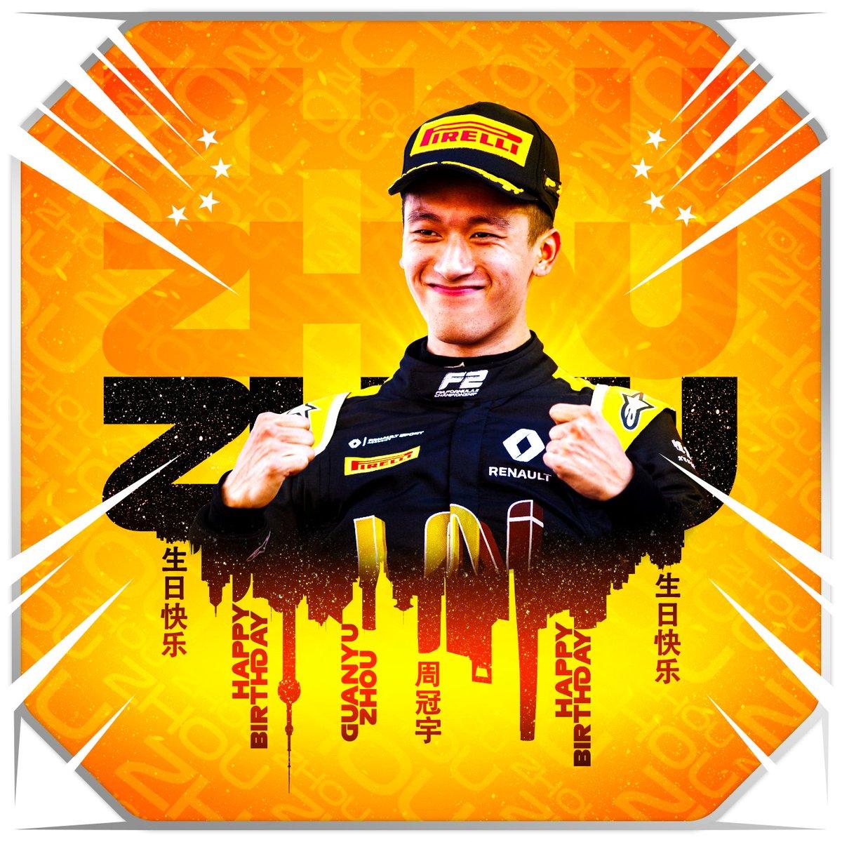 Happy Birthday, @gyzhou_33 🥳  The @VirtuosiRacing star turns 21 today! ✨  #F2 #RoadToF1 https://t.co/PrkXxk10hO
