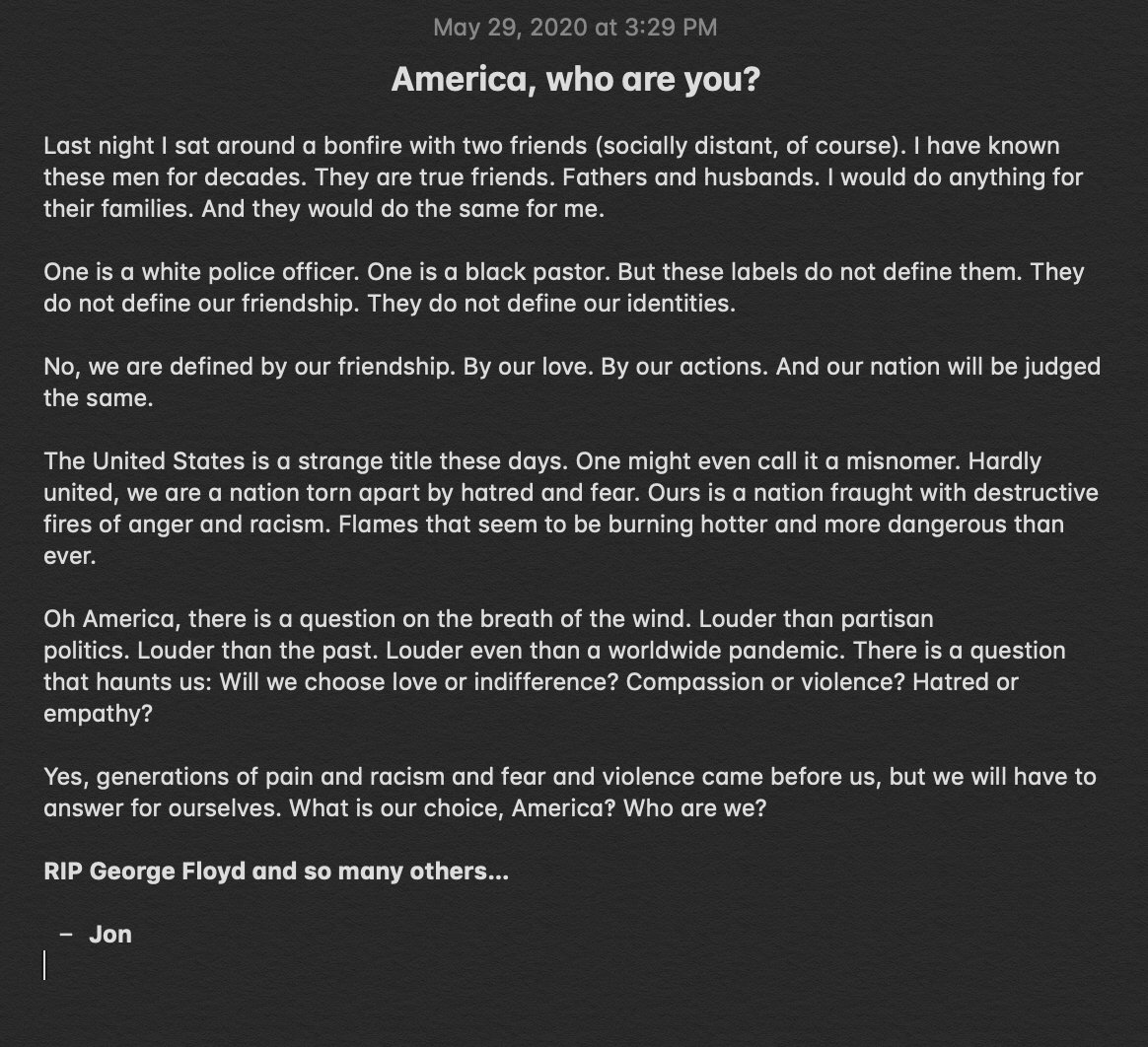 America, who are you?