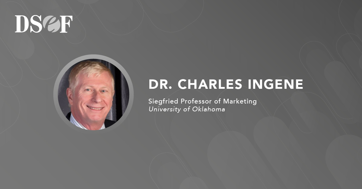 This #FellowFriday, we highlight #DSEFfellow Dr. Charles Ingene, Siegfried Centennial Professor of #Marketing at @OUPriceCollege, @UofOklahoma. Thank you for your dedication to teaching students about #distribution channels and #supply chain #management.
