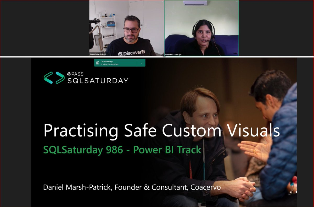 Next #PowerBI focused session at #SQLSatBrisbane just began. @the_d_mp will talk about… #MVPBuzz #CustomVisions #LearnFromHome pic.twitter.com/qwV2zM9QaU