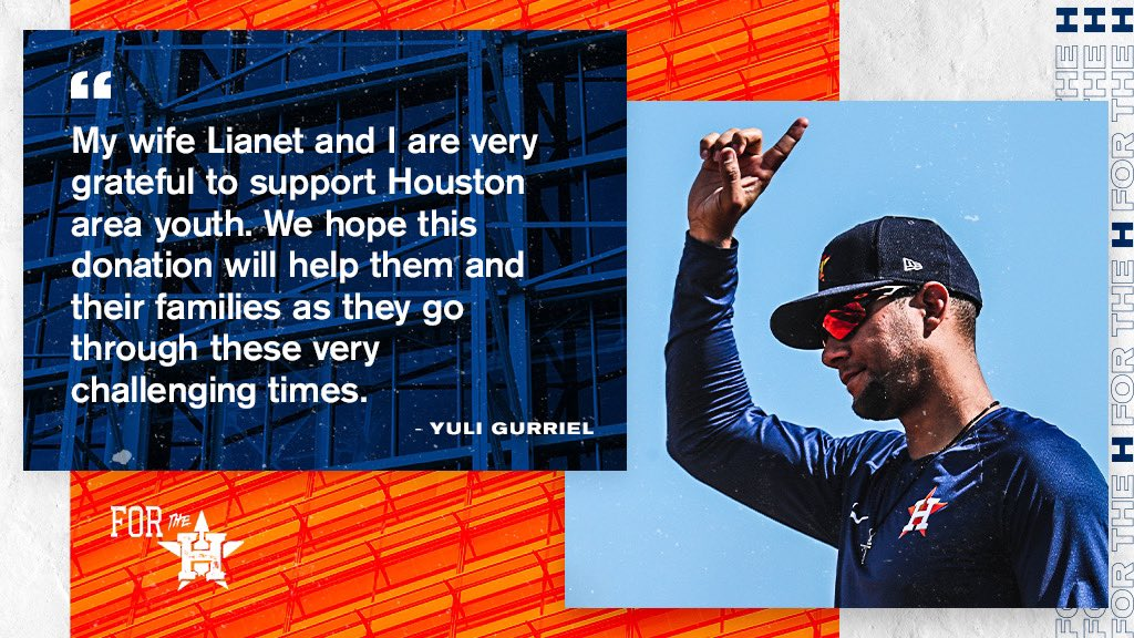 Yuli x #AstrosFoundation making an impact! #ForTheH