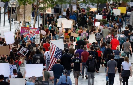 governors across US refuse to reopen businesses while millions abandon social distancing to protest. #JusticeForGeorgeFloyd