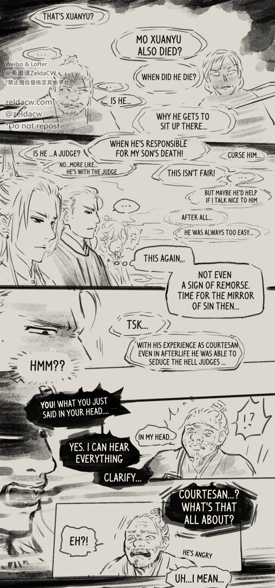 Mo XuanYu (from novel Mo Dao Zu Shi by MXTX) Underworld story comic update~! (1/2) *see thread for previous parts of comic.