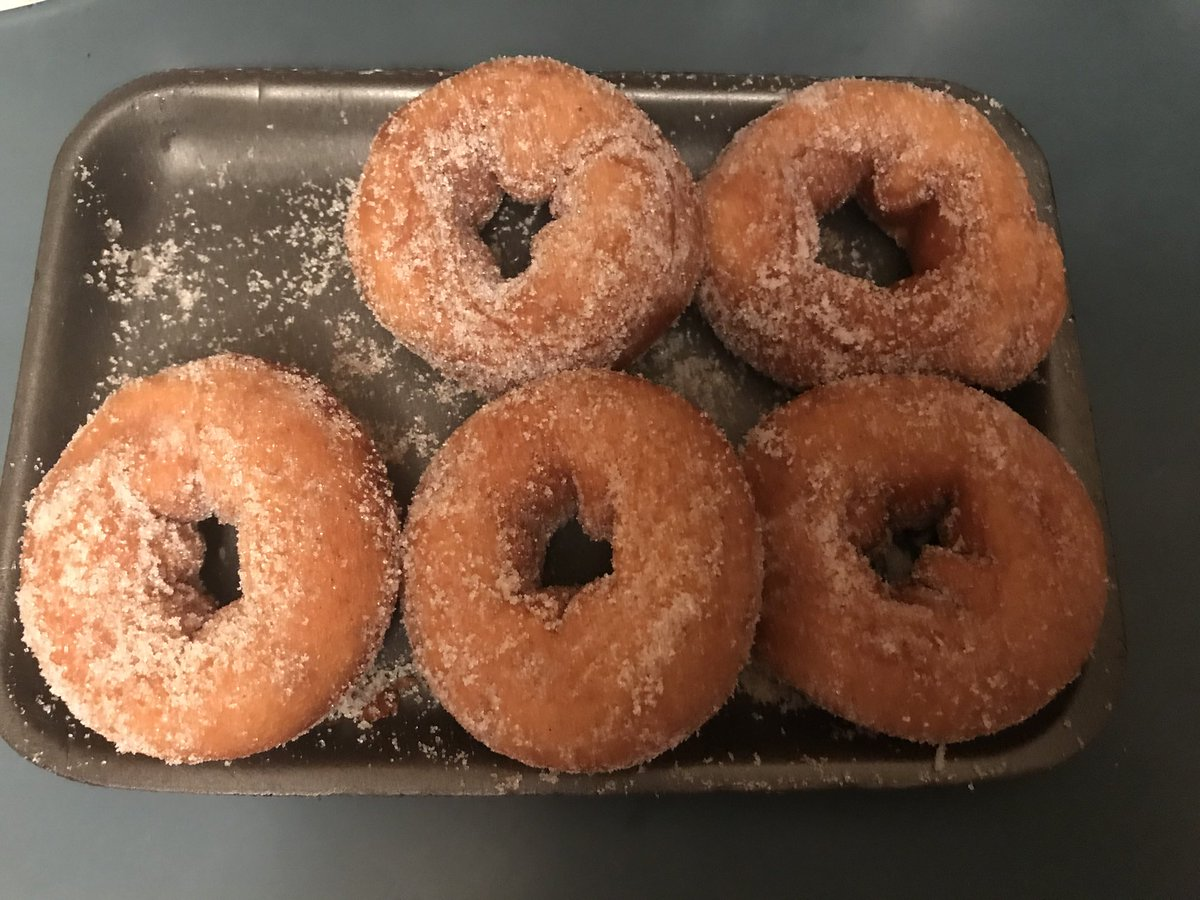 Speaking of 'the world's best,' these old-style original sugar donuts are from the Whitney Pier Market and the secret bakery inside to the left behind the rolling bread racks. Can't eat just two...