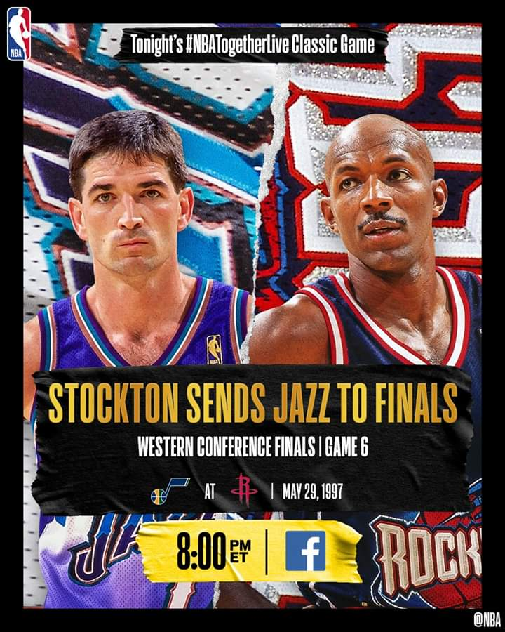 Tonight's #NBATogetherLive Classic Game will feature John Stockton's game-winner from the Utah Jazz vs. Houston Rockets in Game 6 of the Western Conference Finals (5/29/1997)! 👍👍👍👍👍👍👍👍👍👍👍👍👍👍👍👍👍👍👍👍👍👍👍👍👍👍👍👍👍👍👍👍👍👍👍👍👍👍👍👍👍👍👍👍👍👍👍👍👍👍👍👍 https://t.co/8esXl0XJPe