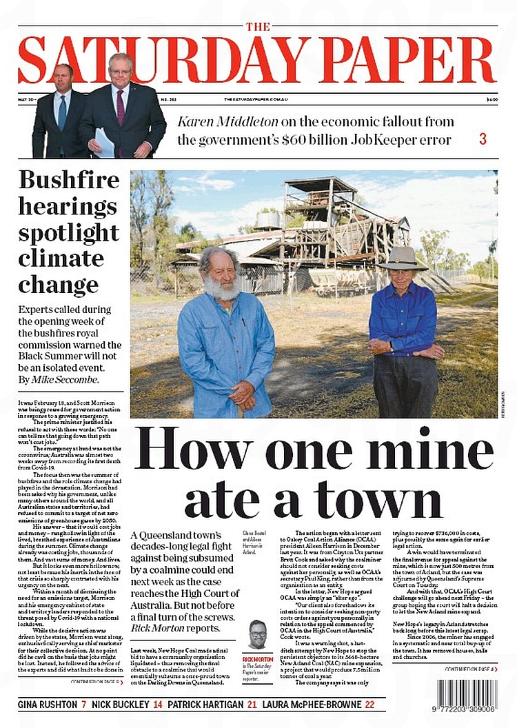 Ove 13 years, New Acland Coal bought up, destroyed or shipped out 54 buildings from the once proud town of Acland. Houses, churches, community halls, even the trees. Gone. Now the fight against the expansion reaches the High Court. My piece: thesaturdaypaper.com.au/news/environme…