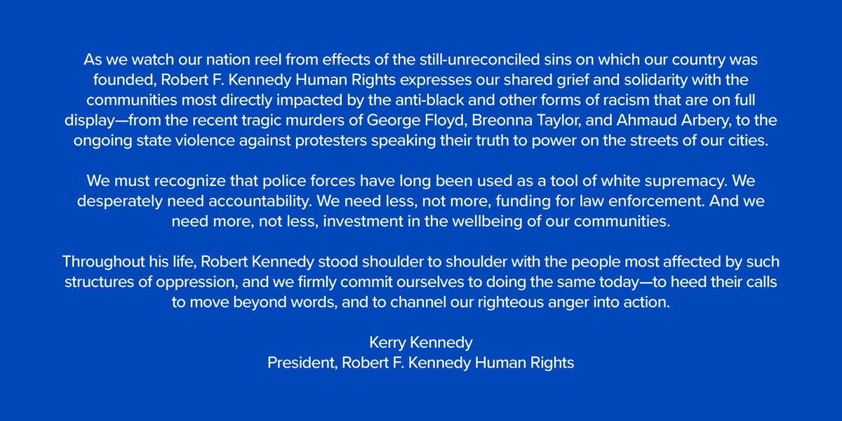 A Statement from @KerryKennedyRFK: