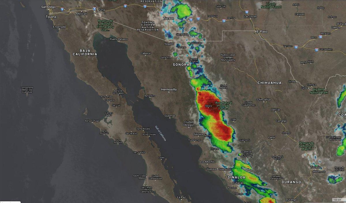 7:10 pm  🛰#Tormentas en México  ⛔️Tormenta noche-madrugada #Ver #Tab #Oax #Chis  ⚠️Celdas de tormentas fuertes y chubascos en zonas altas y sierras de #Son #Chih #Sin #Nay #Jal #Col #Coah #Dgo #SLP #Gto #NL #Tamps #Mich #Gro #Oax #Chis  🔺Muy fuertes #Tab #Camp #Yuc  #QR https://t.co/Q98BI0aq4X
