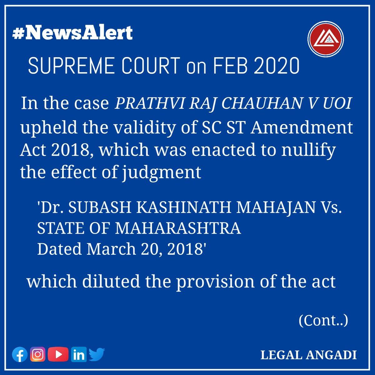 Short read on SC ST AMENDMENT ACT 2018  Follow us for more Legal Updates   #law #legal #legalangadi #lawfirm #chennai #india #legalprofession #awareness #legaladvice #lawyer #legalupdates #legaleducation #courts #supremecourt #litigation #currentaffairs  #scstact #amendmentspic.twitter.com/e1rI2k5H5c