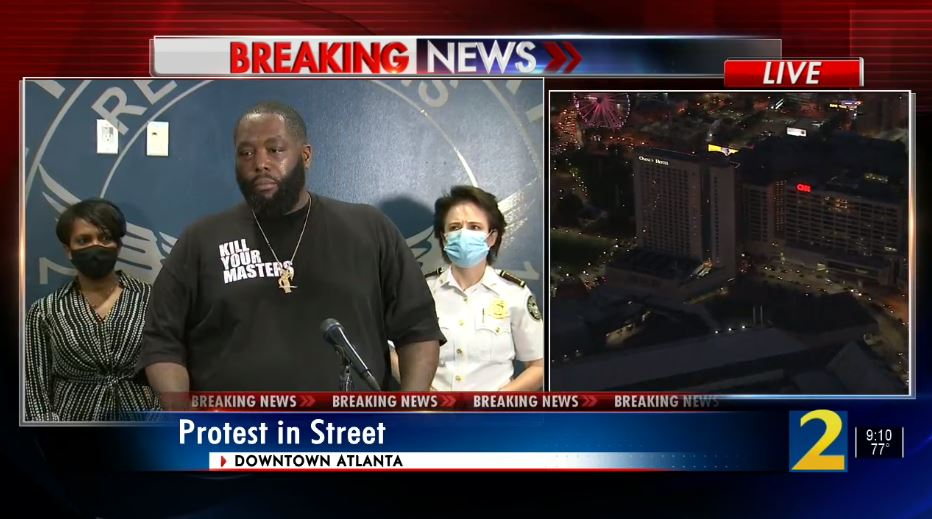 """Killer Mike to Atlanta: """"It is your duty to not burn your own house down for anger with an enemy. It is your duty to fortify your own house, so that you may be a house of refuge in times of organization."""" WATCH LIVE:  https://t.co/c8cPBZLATJ https://t.co/vMJ3QrETwl"""