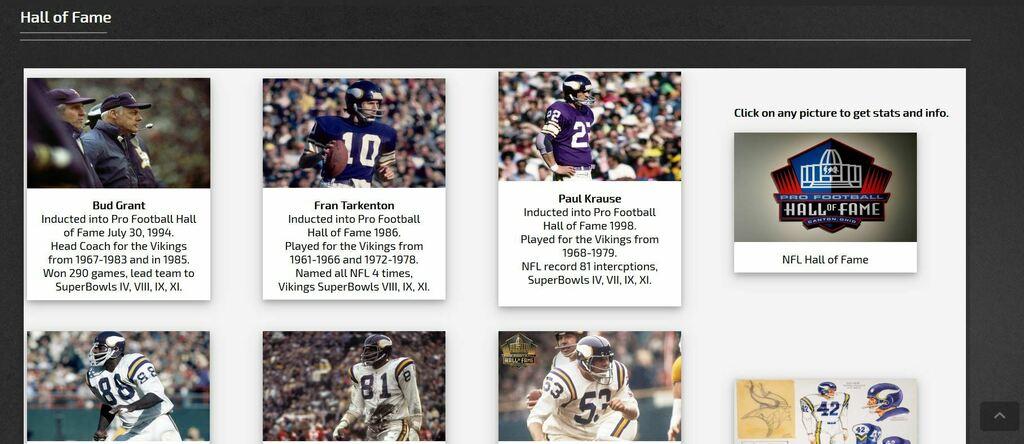 The Minnesota Vikings HOF Inductees vikinghorn.proboards.com/page/hof #Skol #Vikings #NFLHOF #NFL #GoPackGo #OnePride #DaBears