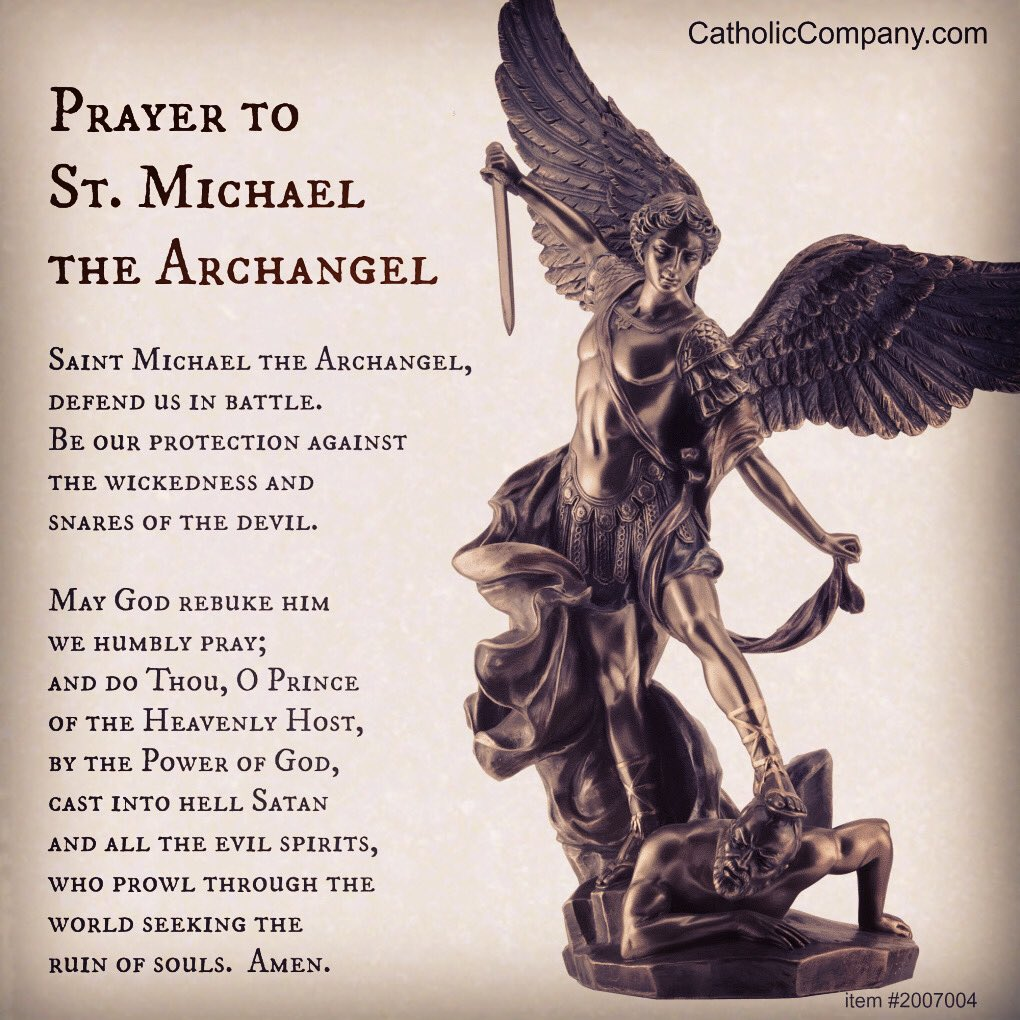 #Prayer to St Michael the Archangel pic.twitter.com/eVuUeTA9wN