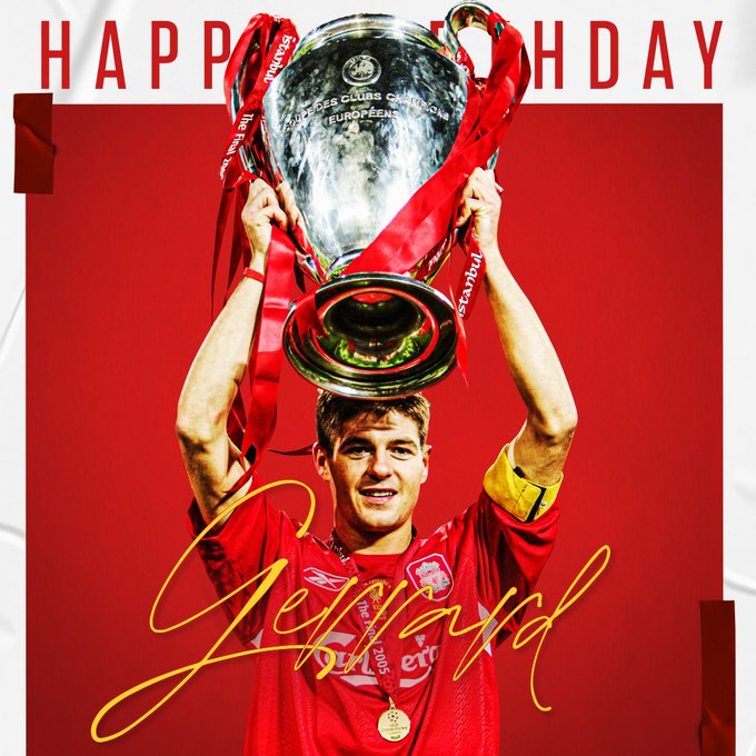 Happy 40th Birthday Steven Gerrard