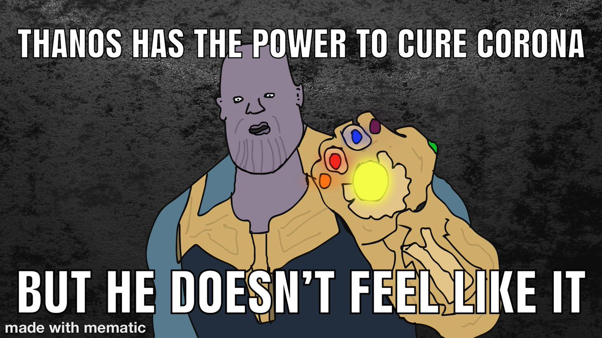 Thanos... #coronavirus  #actor #comedy #funny #impression #funnyvideos #gaming #streaming #twitch #callofduty #happy #fun #realtalk #inspiration #motivation #gaming #twitch #gamers #singing #rap #hiphop #rapper #raps #rhymes #hiphopmusic #newmusic #freestyle #artist #3dart #MEMES https://t.co/2TYcva3zJR