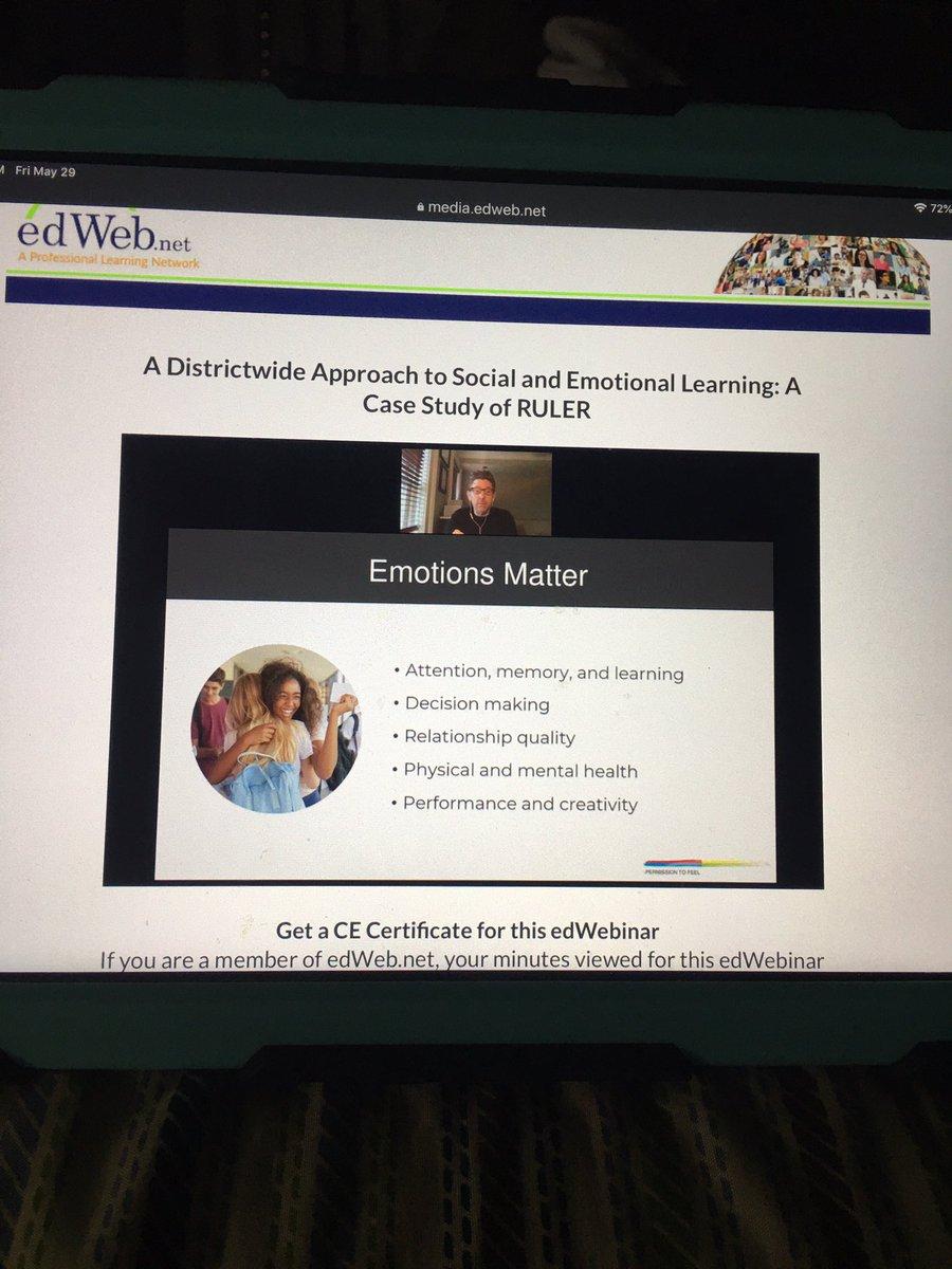 Thank you http://edWeb.net for great webinars on SEL! #socialemotionallearning #RULERpic.twitter.com/0ZFYw6zCBd