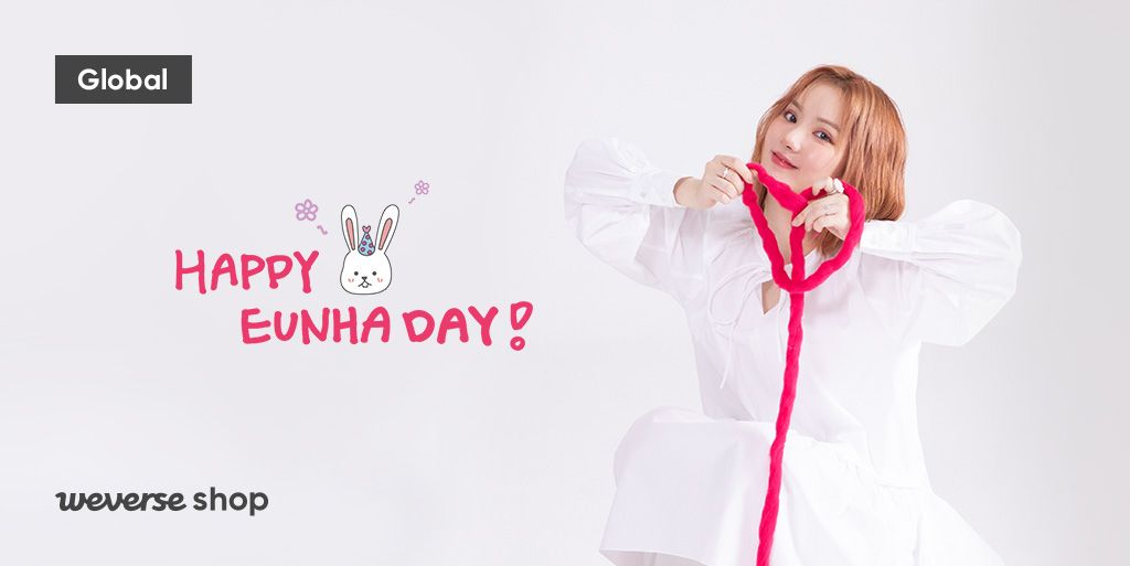 Meet the rabbit that came to #WeverseShop to celebrate HAPPY EUNHA DAY🎉. Celebrate #GFRIEND EUNHAs b-day with towel set, keyring, earphone case, and coin purse💖. 🍀BUDDY MEMBERSHIP Only 📆30 May, 11 AM ~ 6 Jun, 11:59 PM (KST) 👉weverseshop.onelink.me/BZSY/d70b9ec2