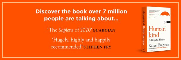 Humankind by @rcbregman is a major new book on human history, out now from @BloomsburyBooks Find out more here: guardianbookshop.com/humankind-9781…
