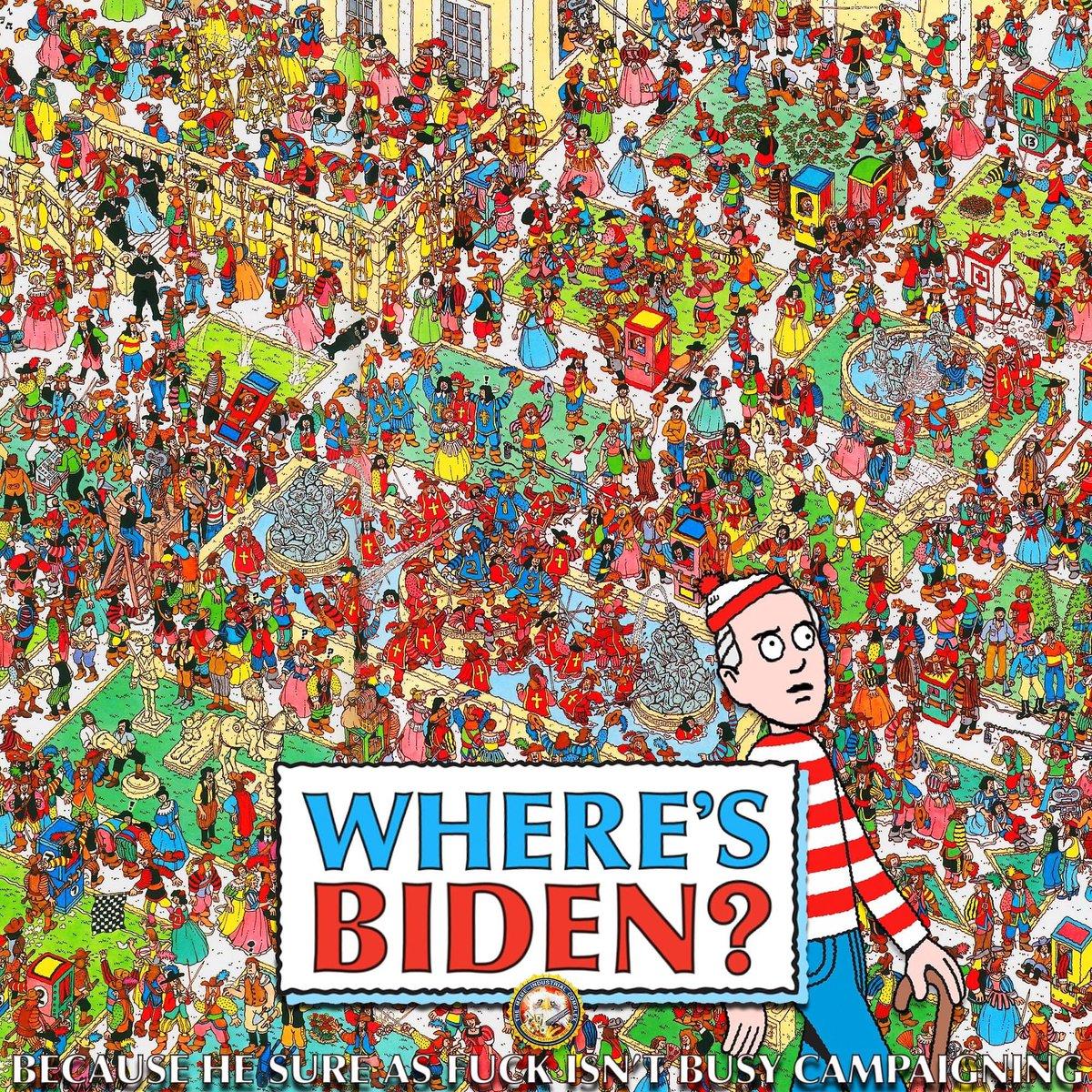 Find Biden for a nice surprise!  Image is not owned by us :) #NotMeUs #JoeBidenIsARacist #NeverBiden #JoeBiden https://t.co/AYr8A0kXpY