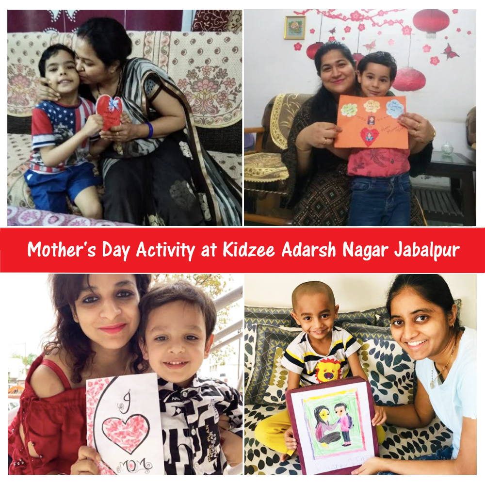 Little champs of Kidzee Adarsh Nagar, Jabalpur celebrated Mother's Day by making creative, expressive, and beautiful cards filled with al little illustration of themselves with their mother along with a heartwarming message! . . . #Kidzee #KidzeeStudents #MothersDay #Throwback https://t.co/TQTrkPvCFV