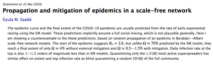 この辺の論文がR02.5でもその後の集団免疫成立、感染速度鈍化がはるかに少ない割合で成立する???私の乏しい数学理解ではアブストラクトだけだとちょっと厳しい。