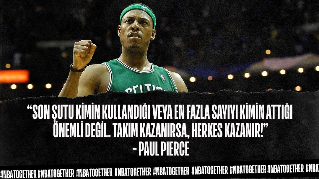 Paul Pierce Basketbolda Takım Olmanın Önemini Hatırlatıyor! 🗣️  @paulpierce34   @JrNBA   #NBATogether https://t.co/9A1jAmqP1z