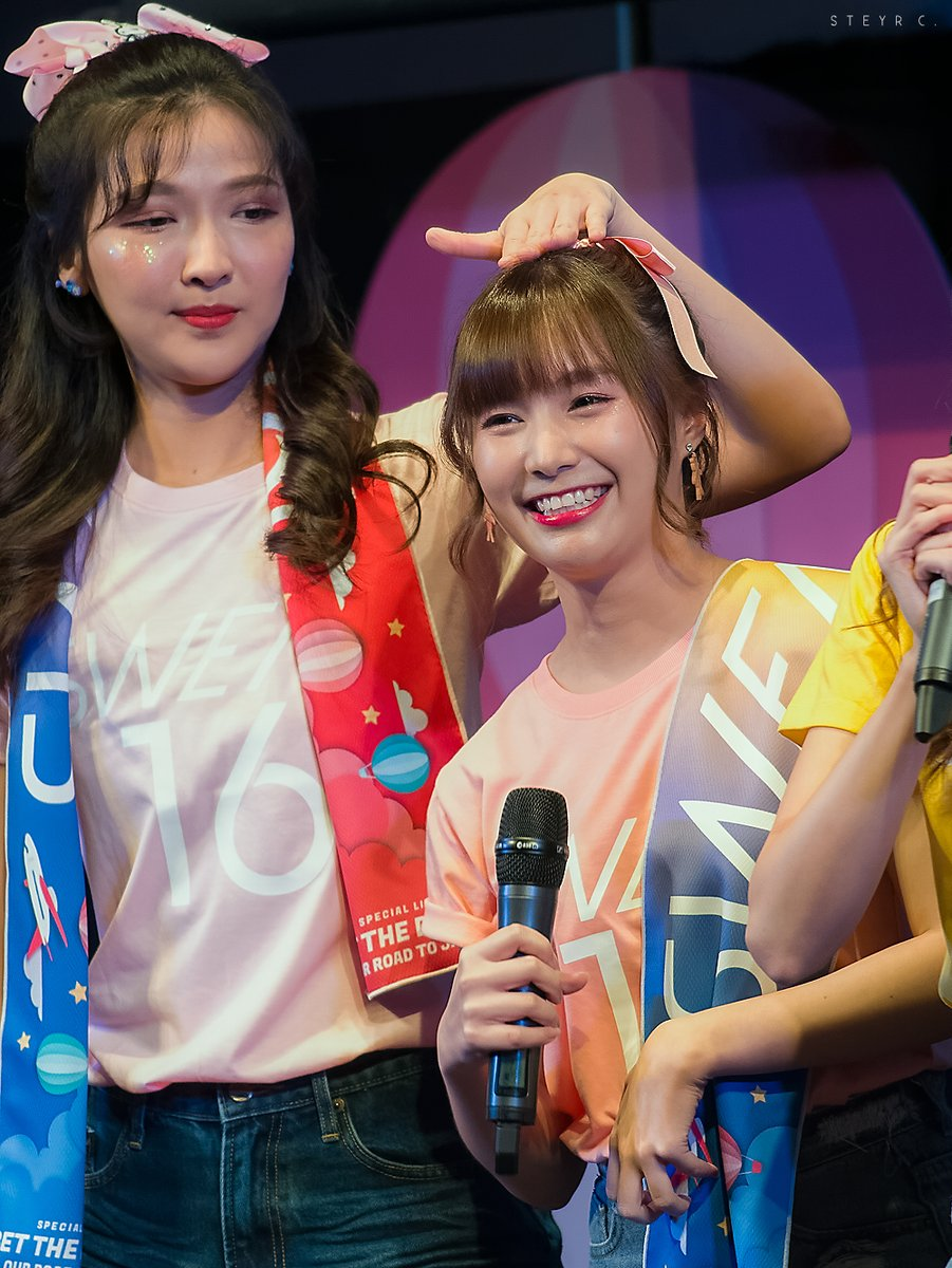 😊✌  #MahnmookSWEAT16 #PimSWEAT16 #SWEAT16  SWEAT16! Get the dream! ~Our road to Japan~ (13/07/2019)
