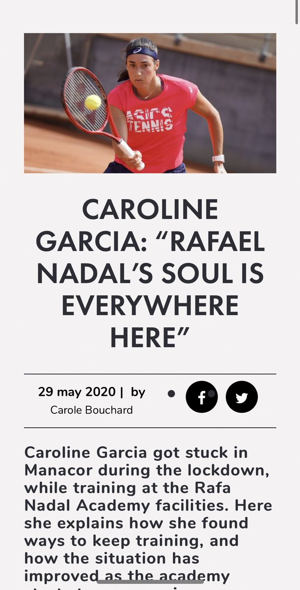Great Interview by  @carole_bouchard for @Tennis_Majors 🤓 Link (english) 👉🏻 https://t.co/Qzqe5EGmXK  @rnadalacademy   #FlyWithCaro #HomeCourt https://t.co/GnvwtkOWVR