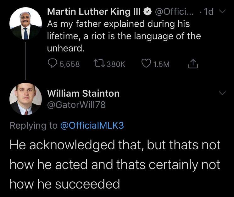 WHITE DUDES WHITESPLAINING MARTIN LUTHER KING TO HIS SON. ENJOY.
