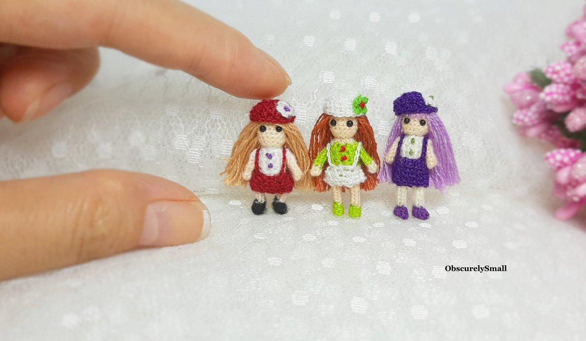 Free Bedtime Doll Amigurumi Crochet Pattern with tiny teddy bear ... | 699x1200