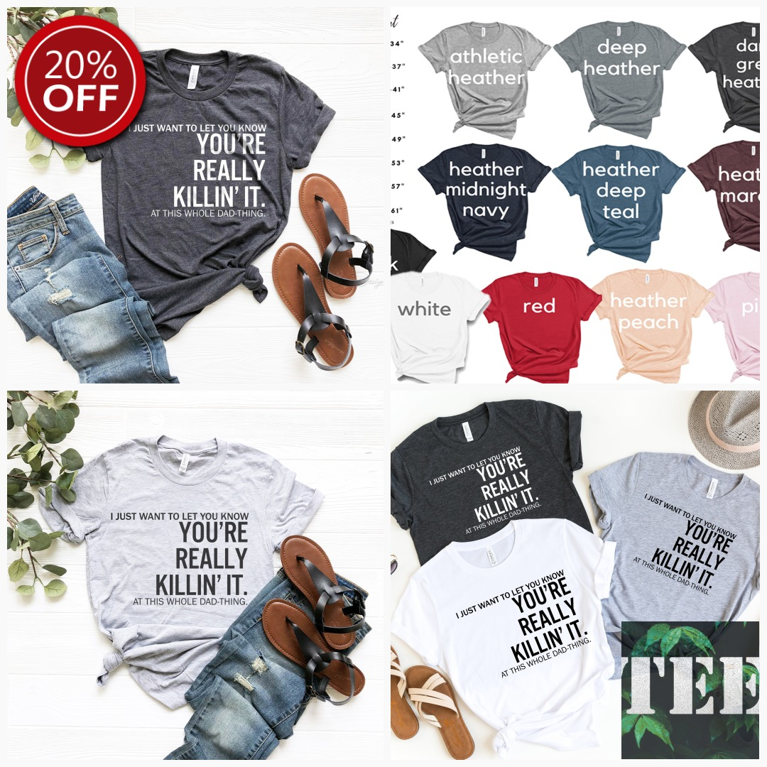 #GiftsForDad #DadGifts Dad You are Really Killin' It, Funny Dad shirts, for Fathers Day, Dad gifts , Dad shirts from daughter, Funny Shirts for dad, Dad Birthday, $12.90 Get here https://etsy.me/2zpdZeHpic.twitter.com/w0dKXtAfVg