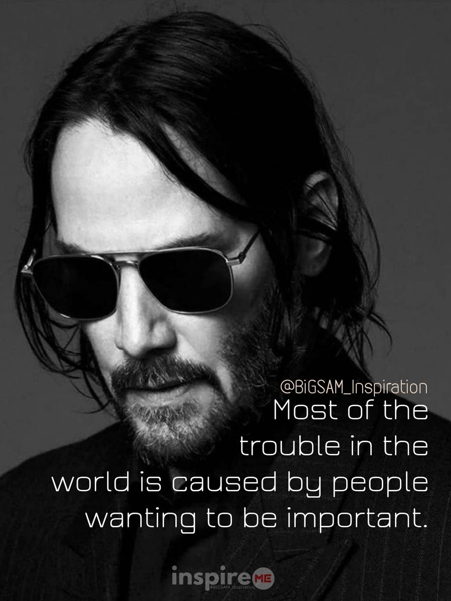 Most of the trouble in the world is caused by people wanting to be important. °inspireME #IntrospectionSaturday #BiGSAM_Inspiration #bigsam_inspiration #quote  #entrepreneur #encouragement #inspiration #inspireME #quotes #comment  #TFLers #tweegram #quoteoftheday #funny  #true