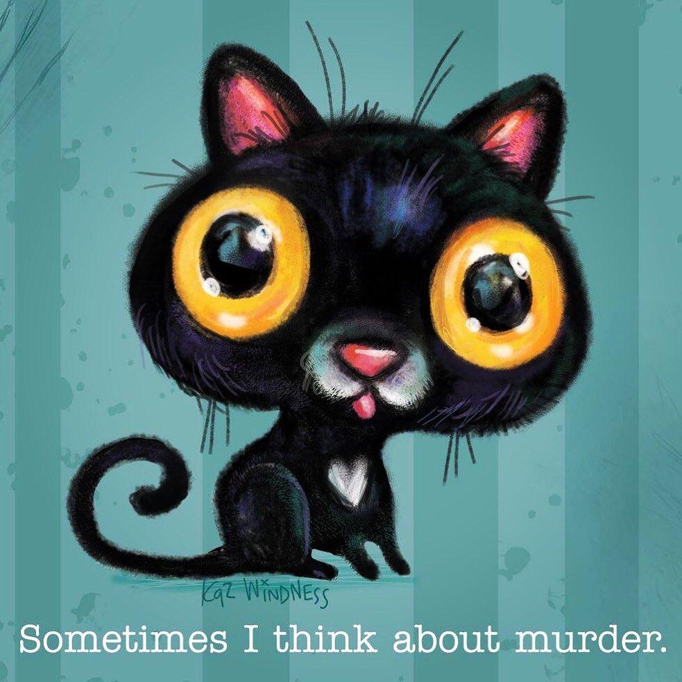 Our PT cat. Sleek. Adorable. Deadly.  #cat #blackcat #humorpic.twitter.com/Fe49kPDpaB