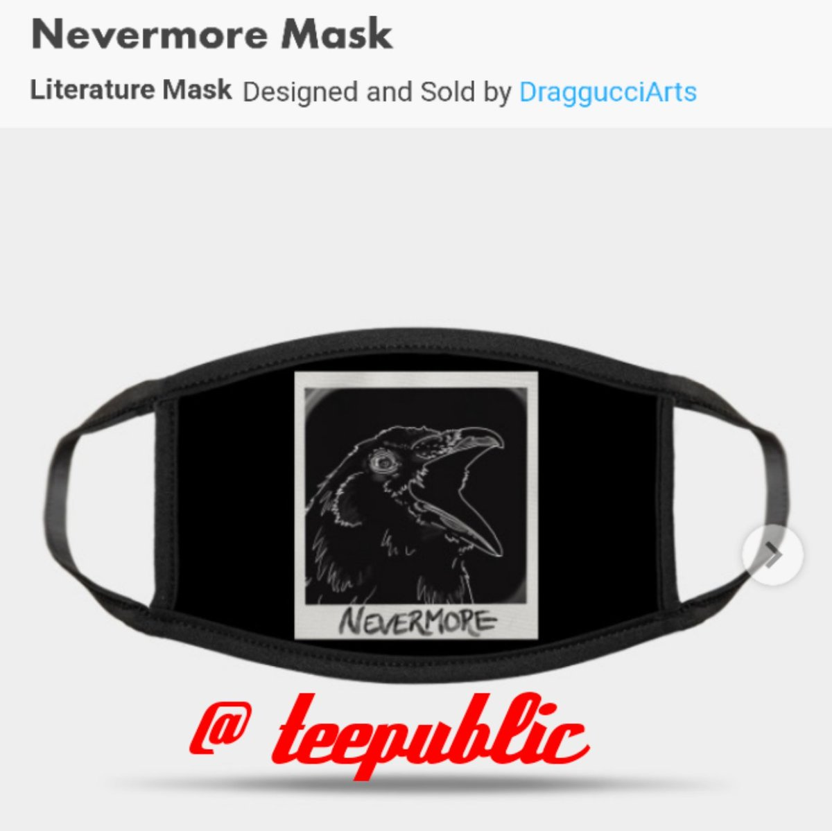🙀 MASKS, PILLOWS, PHONE CASES & TOTES, OH MY!!! @teepublic isnt just about shirts, they have a whole assortment of merch with my Nevermore design. Go check them out. Its easy to get to, the link is below. ✌️😉 teepublic.com/user/draggucci…