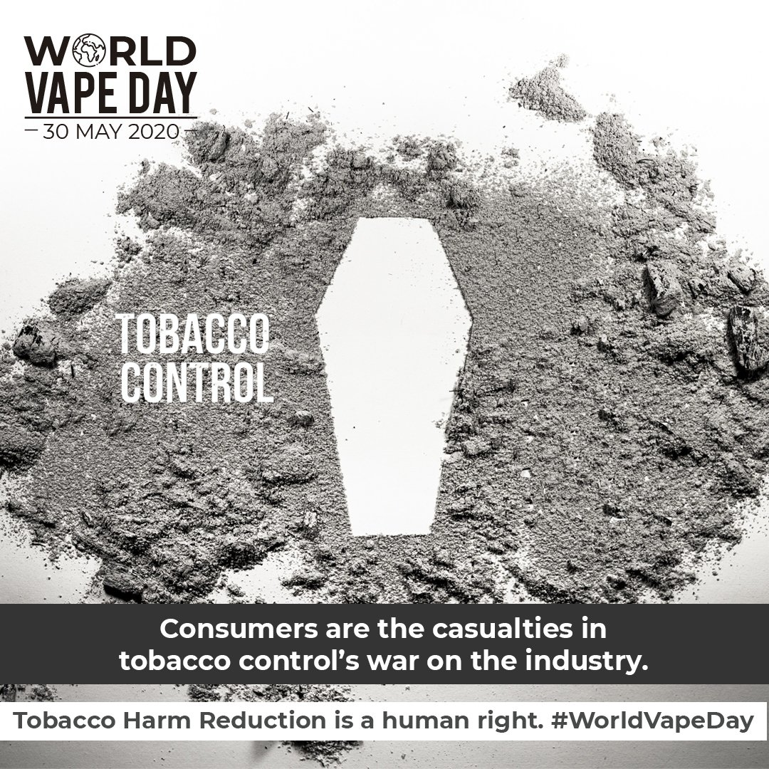 Unlike patches, pills & hotlines, vaping is an existential threat to both tobacco taxes and the industry. The war on vaping protects a status quo where 8M people die from smoking each year. Anti-vaping crusades are fundamentally pro-death. #WNTD2020 #WorldVapeDay https://t.co/YnI603gByx