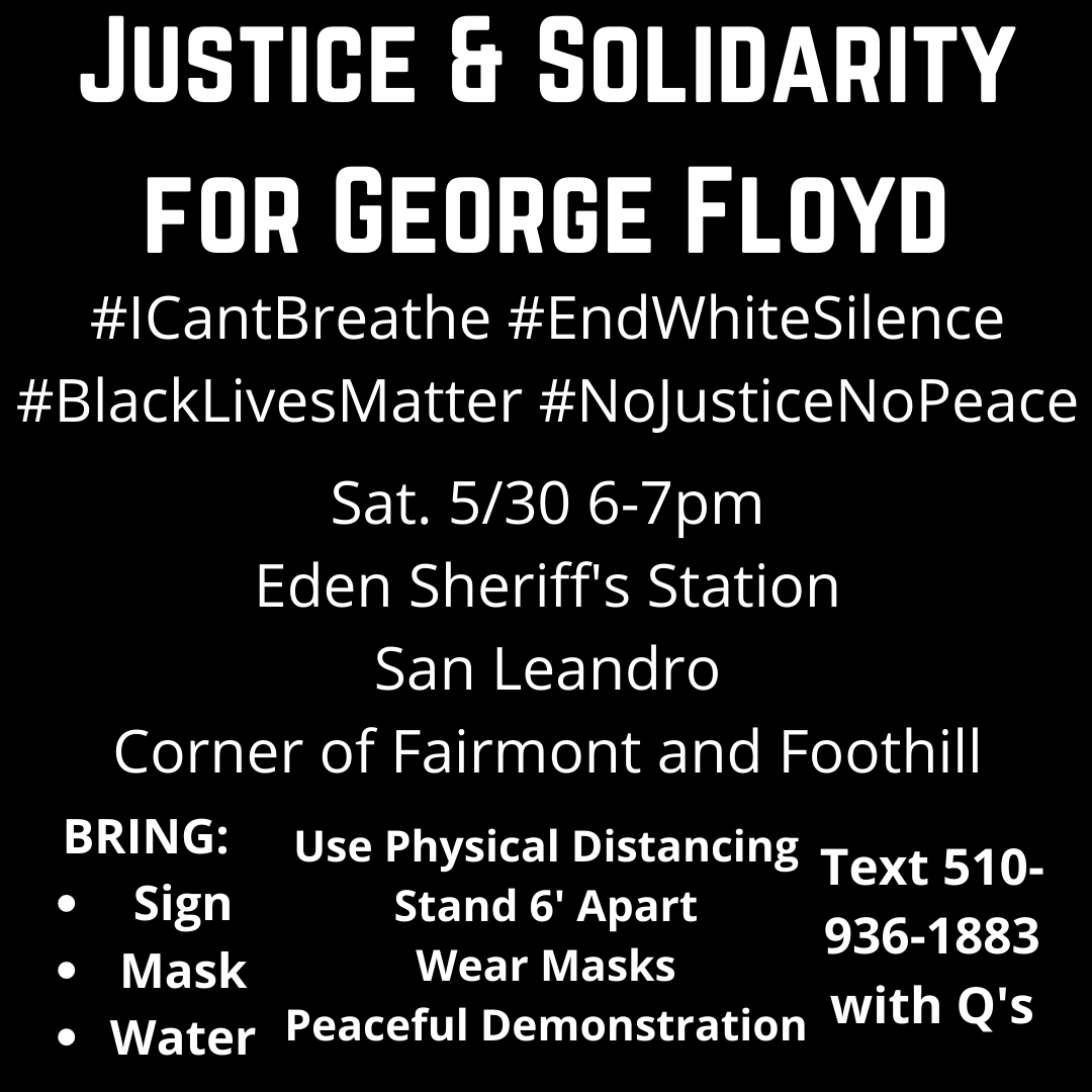 Justice and Solidarity for George Floyd @ Eden Sheriff's Station