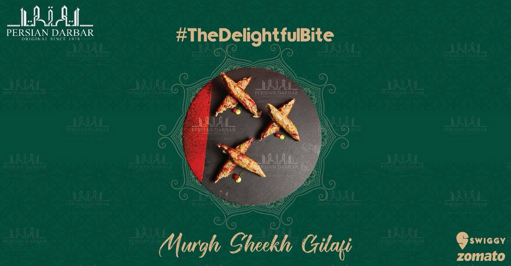 Feel the delightness in every bite with Persian Darbar's special dish, Murgh Sheek Gilafi. To order call on 8080808694 and get it delivered at your doorstep.  Or order from website/zomato/swiggy   #delicious #food #foodie #foodies #foodlovers #lunch #foodblogger @persian_darbar_