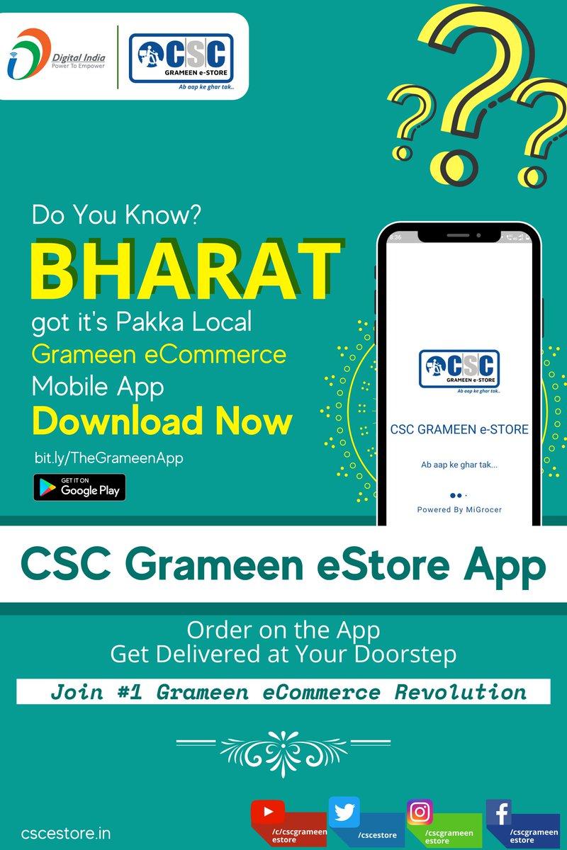 Bharat ka 'Pakka Local' Mobile App. Join the revolution. Download the app: bit.ly/TheGrameenApp
