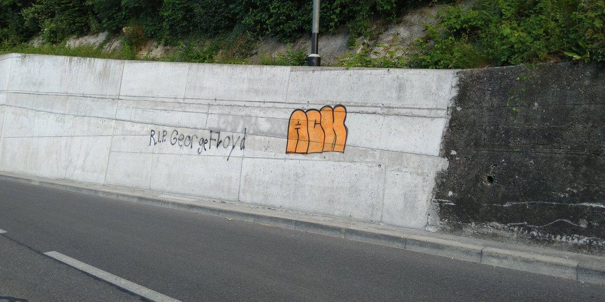 #GeorgeFloyd #RIPGeorgeFloyd #BlackLivesMatters Bremgarten b. Bern, Switzerland