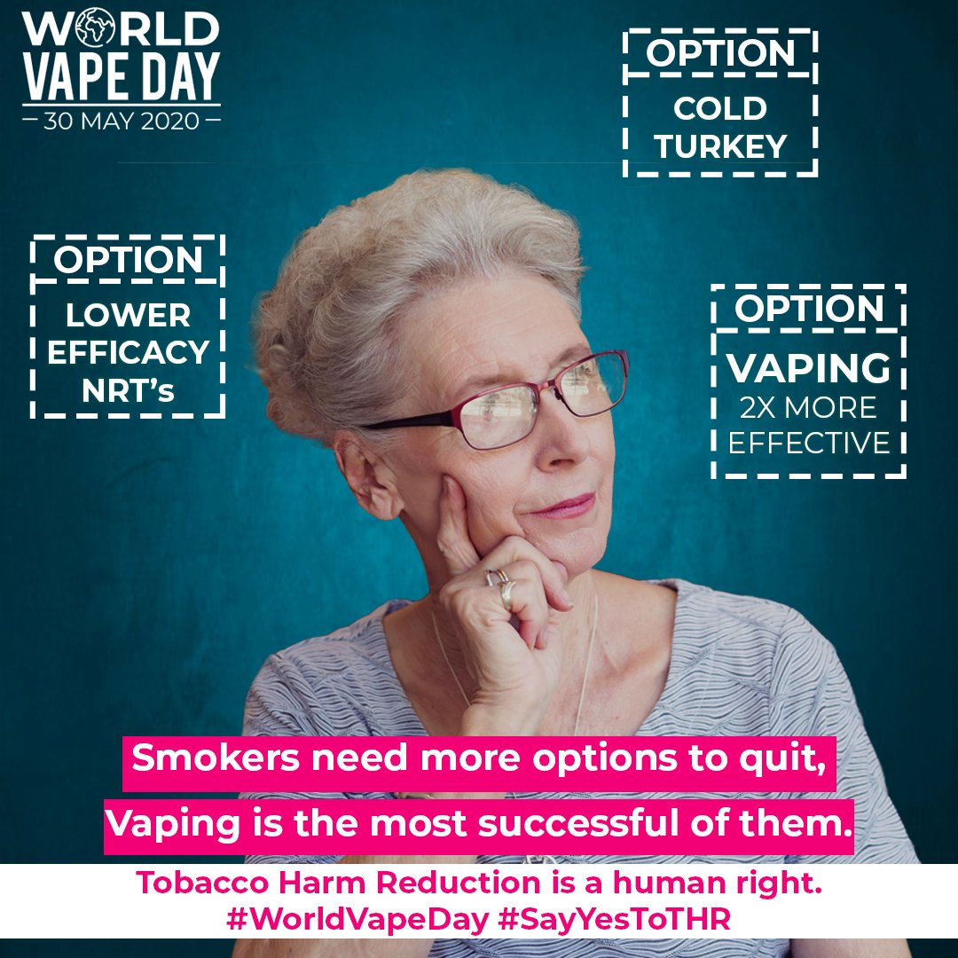 Abstinence from nicotine is not always realistic or desired A successful public health response to tobacco related illness and disease must be grounded in reality Access to a variety of vaping products increases safety and minimizes tobacco related disease and death #WorldVapeDay https://t.co/2OenPQgSOX
