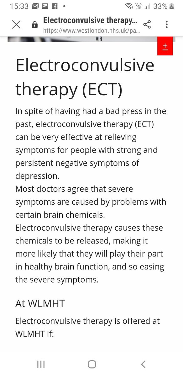 For example, mh trusts are still writing this kind of bollocks on their websites. This borders on criminal in my opinion. If they're telling people this nonsense, then they are not being truthful. One trust even states categorically that ECT does not cause brain damage!! pic.twitter.com/u1Bkgca940