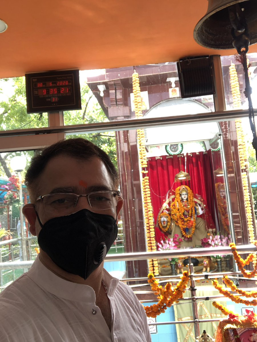 Today is Jyeshtha Ashtami & To seek blessings from Mata Kheerbhawani this day was always a practice for many persons like me since childhood. I Offered prayer on behalf of my family friends & relatives today at NCR temple in lockdown. Matabless is all!🙏🙏🙏 #Kherbhawani #Tulmul