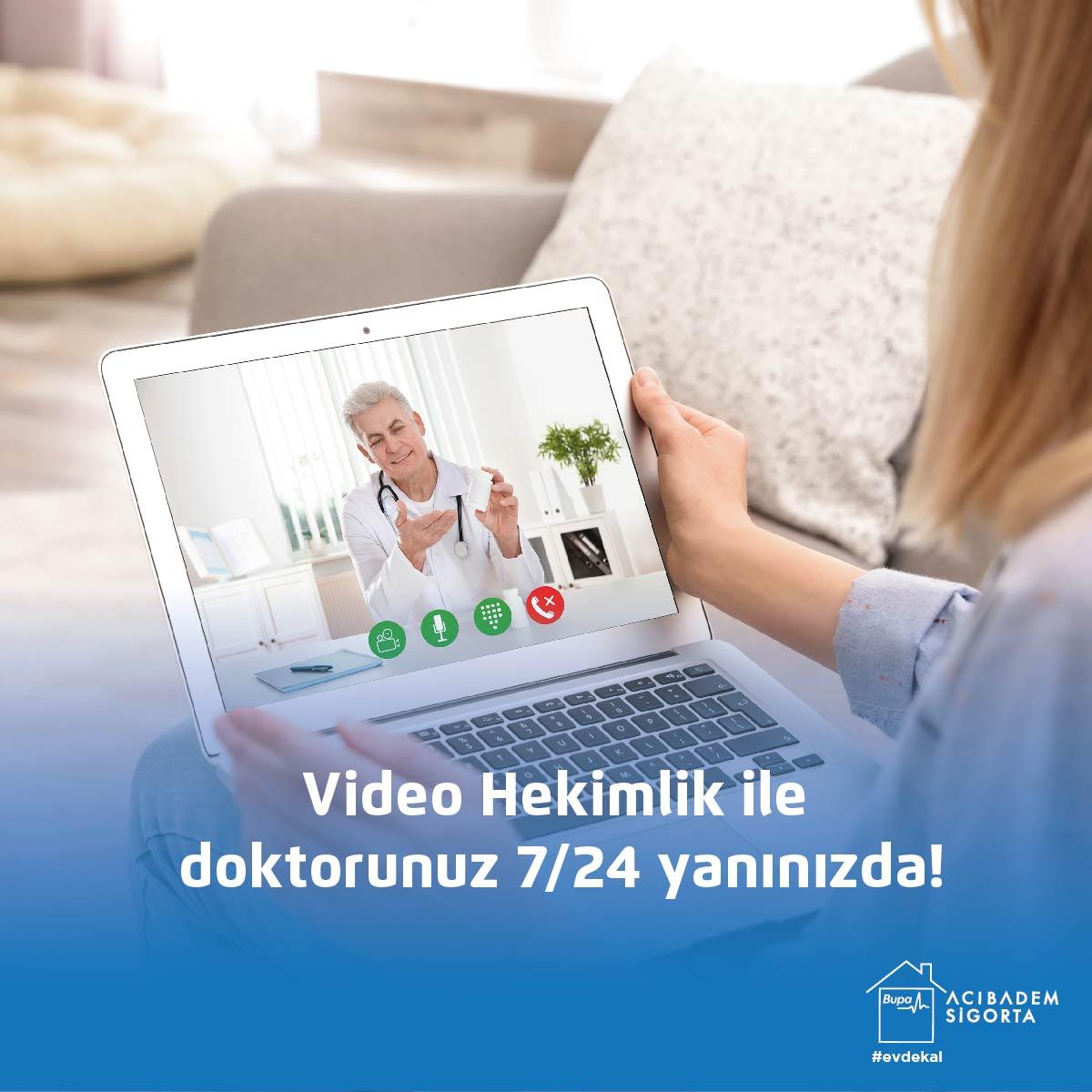 """senCard Sağlıklı Yaşam Merkezi""""Video Hekimlik""""hizmetiyle doktorunuz yanınızda!  👉https://t.co/sIchrwDamJrandevu al butonunu tıklayıp, istediğiniz tarihi seçerek doktorunuz ile görüşebilirsiniz!  #VideoHekimlik #BupaAcıbademSigortaYanında #YanYanaOlamasakDaBeraberiz https://t.co/oslU8VfKOC"""