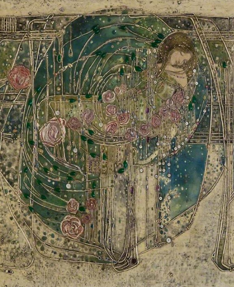 Sleeping Princess - The May Queen (details) Margaret MacDonald #artnouveau pic.twitter.com/8knyxRuGaM