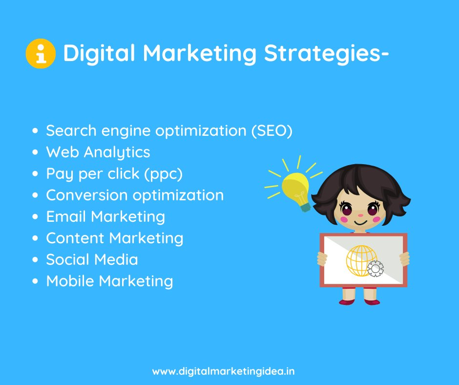 Here are some #Digital #Marketing #Strategies that gives maximum outputs -pic.twitter.com/DYVbTEBdNJ