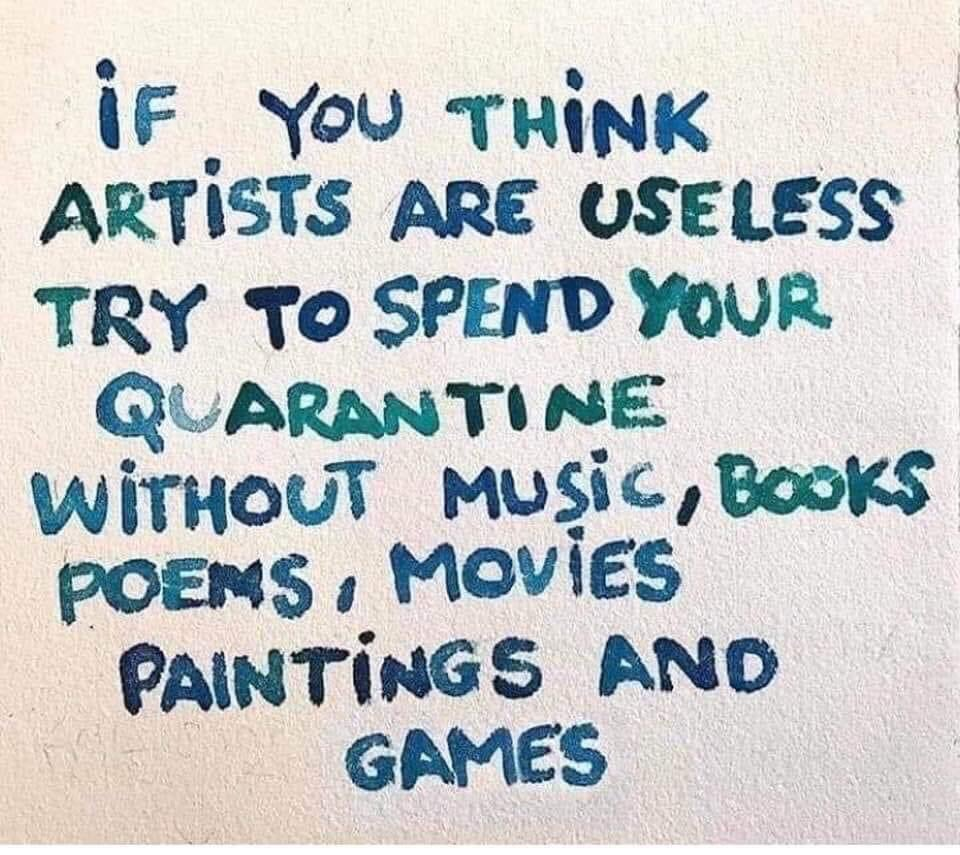 The arts make life worth living. #Quarantine #SelfIsolation #music #musiclovers #books #bookposse #BookClub #movies #movielivers #painting #paintings #gamenight #gamerspic.twitter.com/4YmRpdqqBt