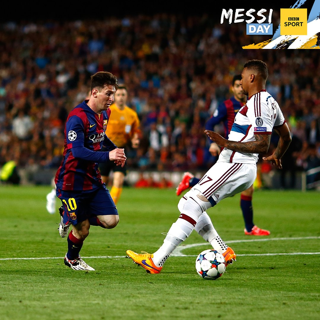 📸 CHALLENGE TIME! 📸 Remember when Lionel Messi bamboozled Jerome Boateng in the #UCL semi-finals? Time to get imaginative! Heres the original and your canvas... lets see your editing skills. Well share our favourites. 😃 Use #BBCMessiDay.