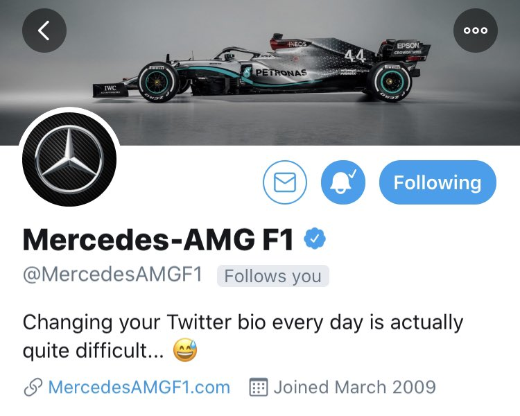 Well, you're doing a great job with it! @MercedesAMGF1 😁 #BestTeam https://t.co/0GPBd9v8Z4
