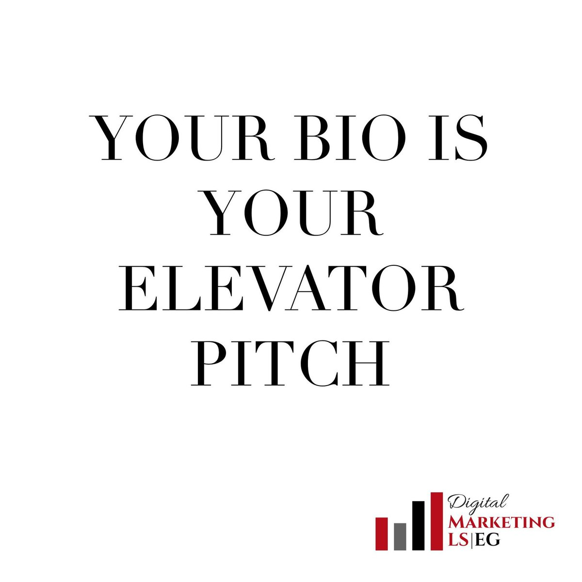 Your bio has the same function as your elevator pitch. #taketheleap #followyourbliss #smallbiztipspic.twitter.com/G3tZY64Ua6