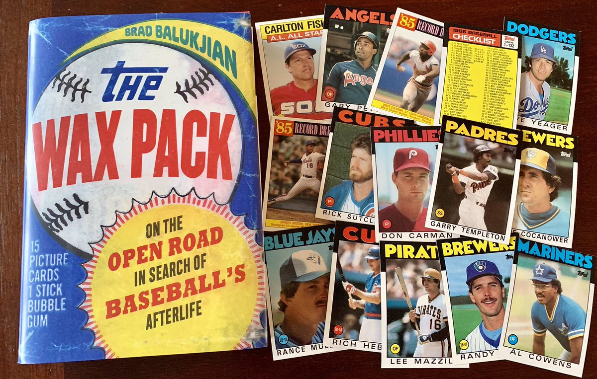 """If you collected baseball cards as a kid, you'll love this... Brad Balukjian bought a pack of old cards before traveling the country in search of what became of the 14 players in it. Review of """"The Wax Pack"""": nydailynews.com/sports/basebal…"""