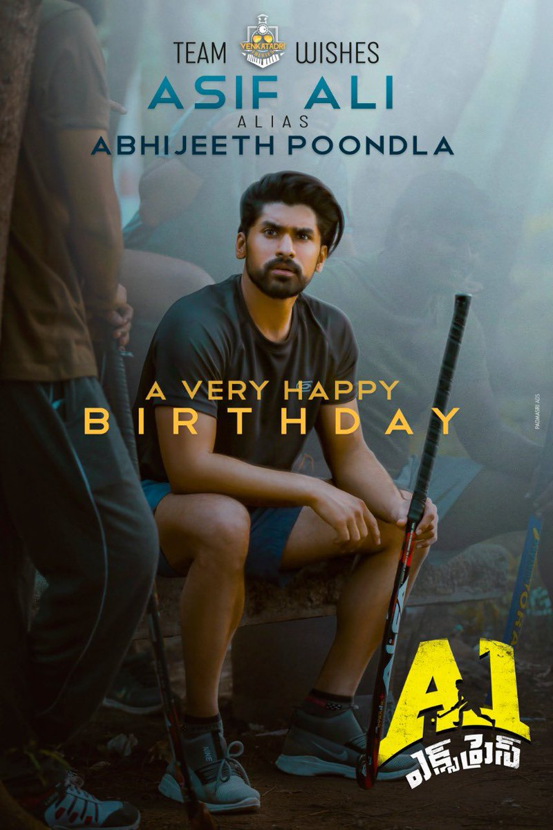 Wishing our PCB Hockey Club Captain & Star Player #AsifAli a very Happy Birthday @ActorAbhijeeth broooo,I hope and pray that our film spins for you the magic that you deserve #A1Express pic.twitter.com/wDORQrJnoD